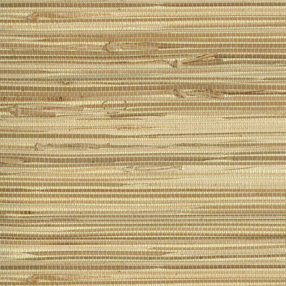 Grasscloth Wallpaper Peel And Stick: NuWallpaper 30.75 Sq. Ft. Wheat Grasscloth Peel And Stick