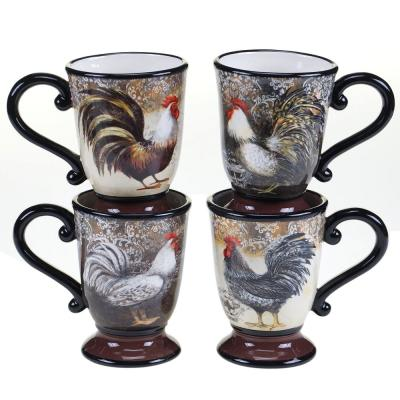 The Vintage Rooster Collection 16 oz. Mug (Set of 4)