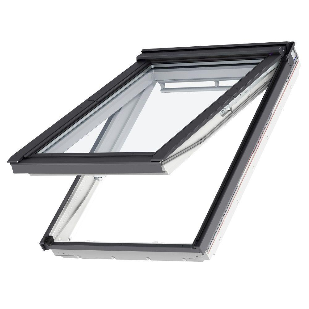 velux 31 1 4 in x 55 1 2 in egress top hinged roof window with laminated lowe3 glass gpu mk08. Black Bedroom Furniture Sets. Home Design Ideas