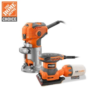 5.5 Amp Corded Fixed Base Trim Router with 2.4 Amp Corded 1/4 Sheet Sander