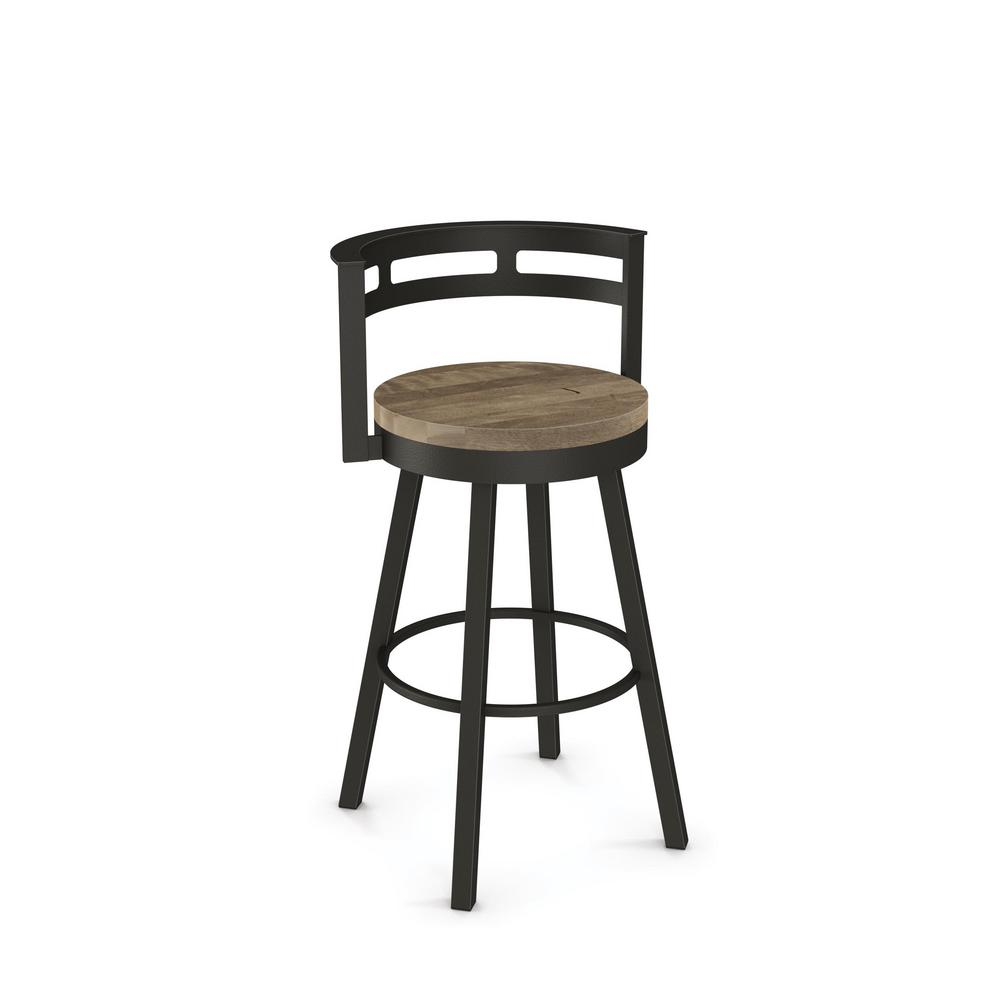 Vector 26 In Brown Metal Beige Wood Counter Stool 41243 7586 The Home Depot