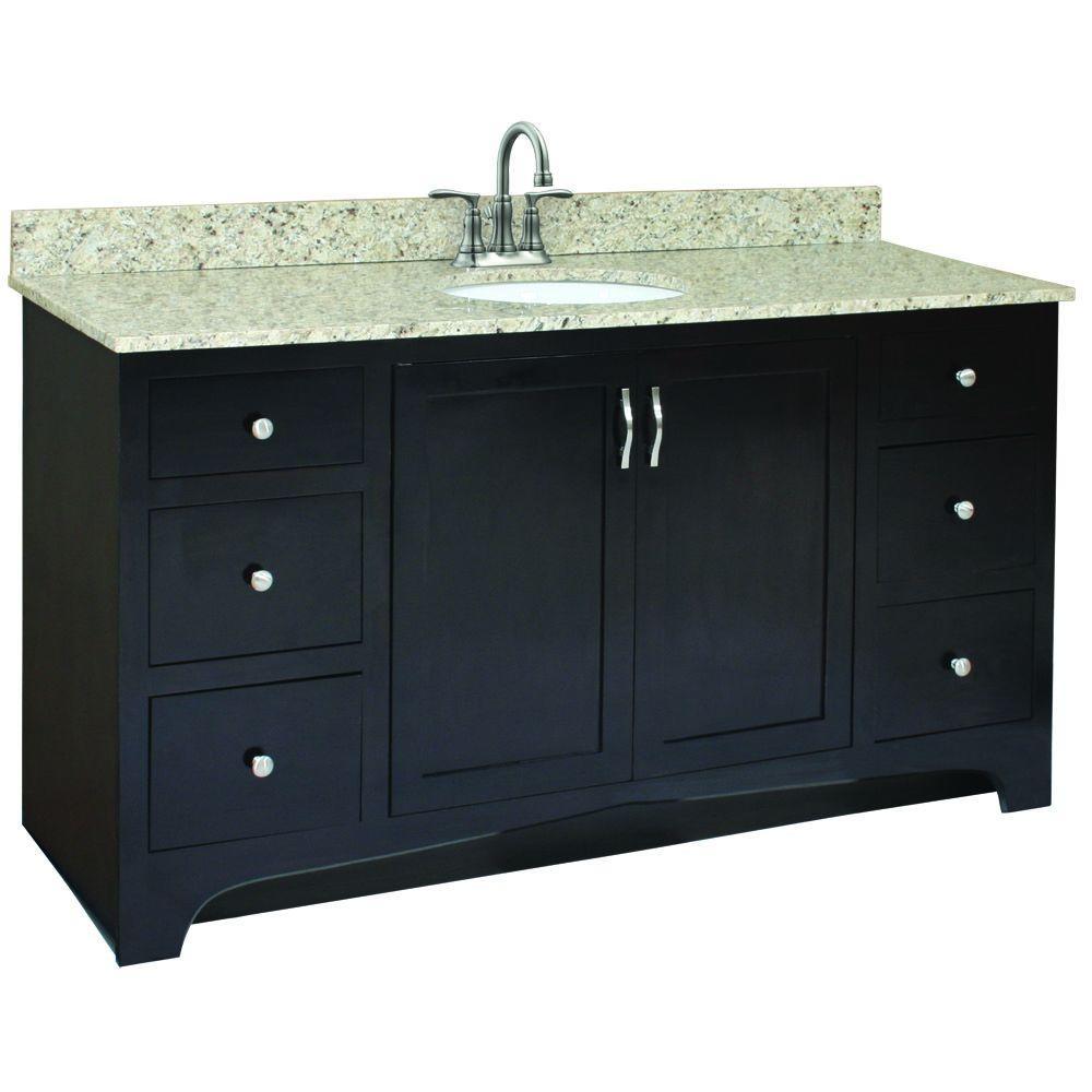 Ventura 60 in. W x 21 in. D Vanity Cabinet Only in Espresso
