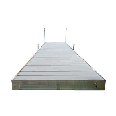 16 ft. L Straight Aluminum Frame with Aluminum Decking Platinum Series Complete Dock Package