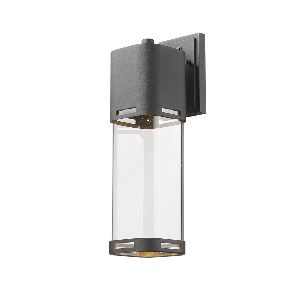 Noya 75-Watt Equivalent Outdoor Black Integrated LED Wall Mount Sconce with