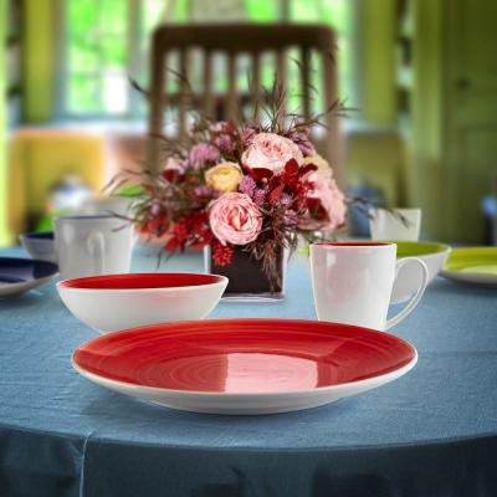 12-Piece Contemporary Assorted Ceramic Dinnerware Set (Service for 4)