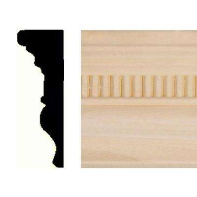 7/8 in. x 2-5/8 in. x 8 ft. Hardwood Emboss Chair Rail Moulding