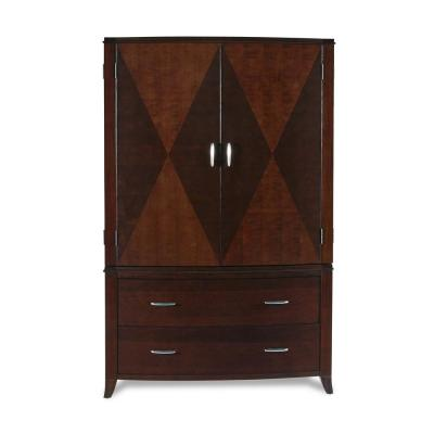 Brighton Cinnamon Armoire with Clothing Rod 71 in. H x 47 in. W x 25 in. D
