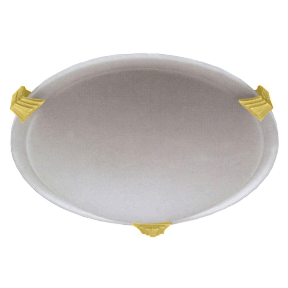 Contemporary Beauty 1-Light Polished Brass Halogen Flush Mount