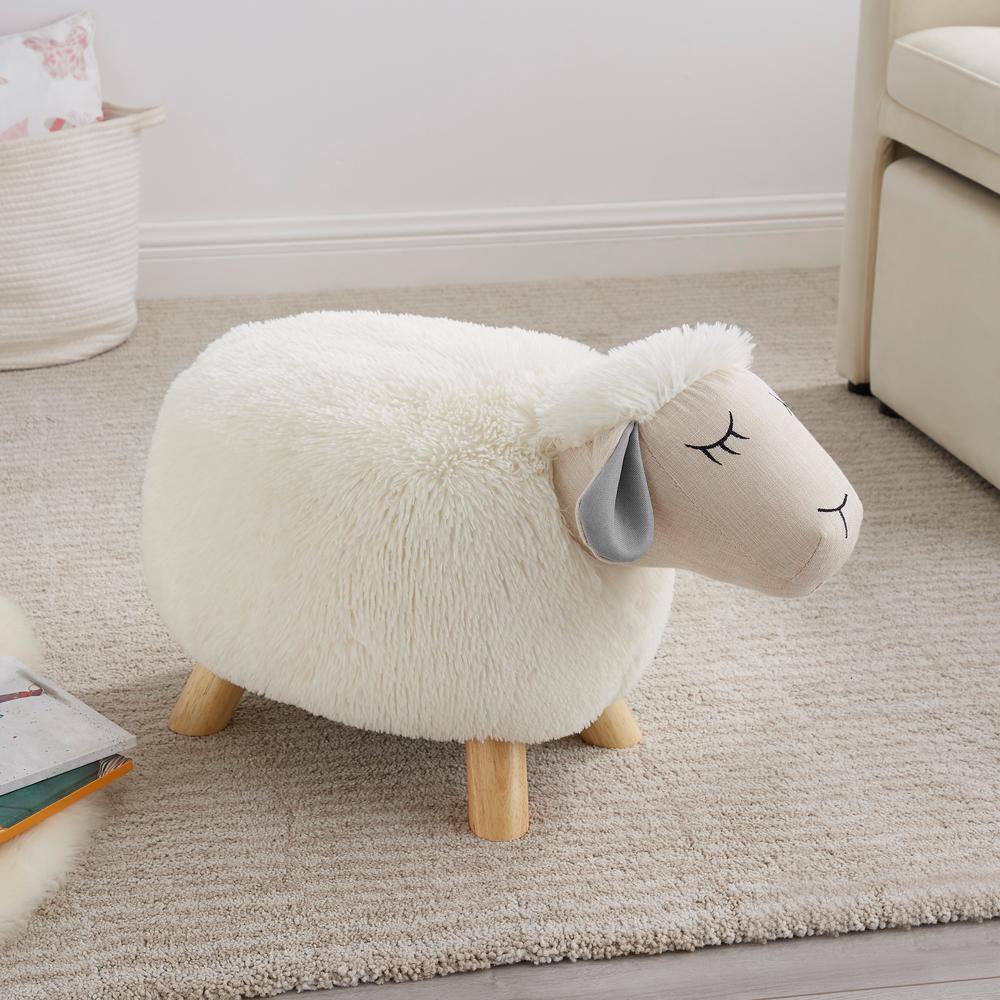 Layla Sheep Stool with No Storage