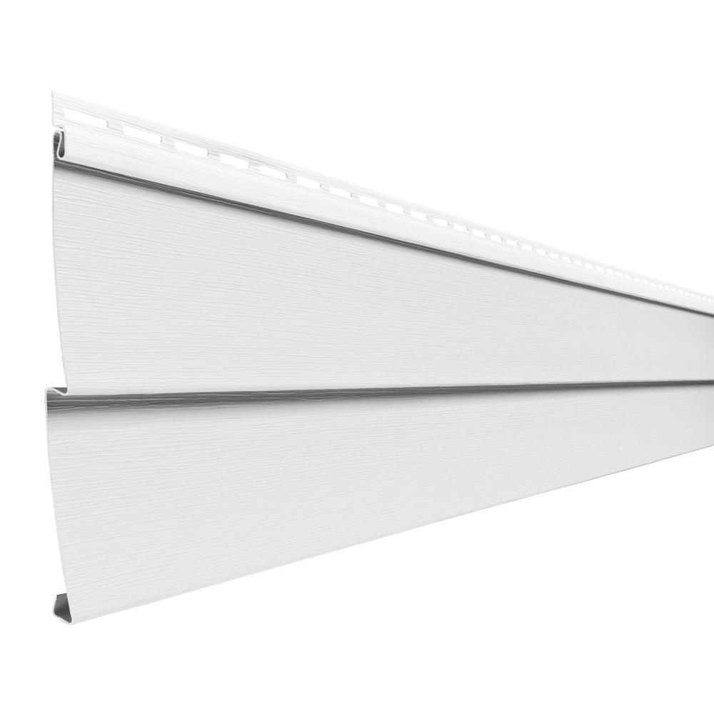 Ply Gem Double 4 In X 150 In White Vinyl Lap Siding