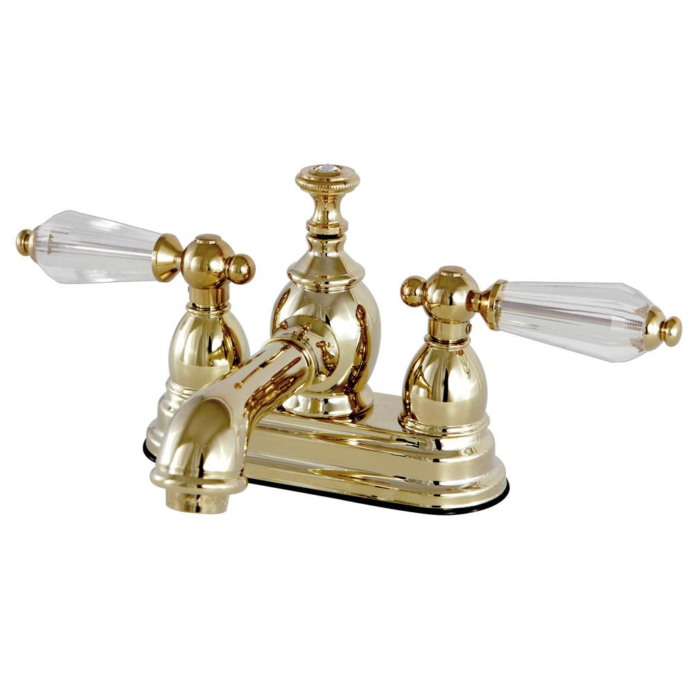 Kingston Brass Vintage Crystal 4 in. Centerset 2-Handle Bathroom ...