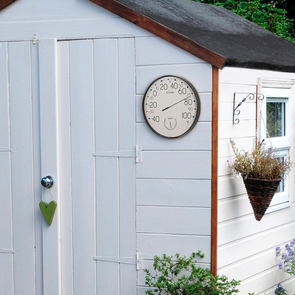 10 in. Round Analog Indoor/Outdoor Wall Thermometer