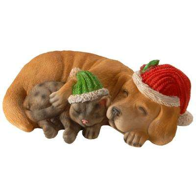 6 in. Christmas Dog with Decorations