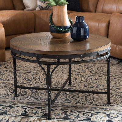 Austin Medium Brown Wood Finished Coffee Table