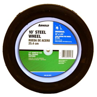 10 in. x 1.75 in. Universal Steel Wheel with Shielded Ball Bearings for Extended Life