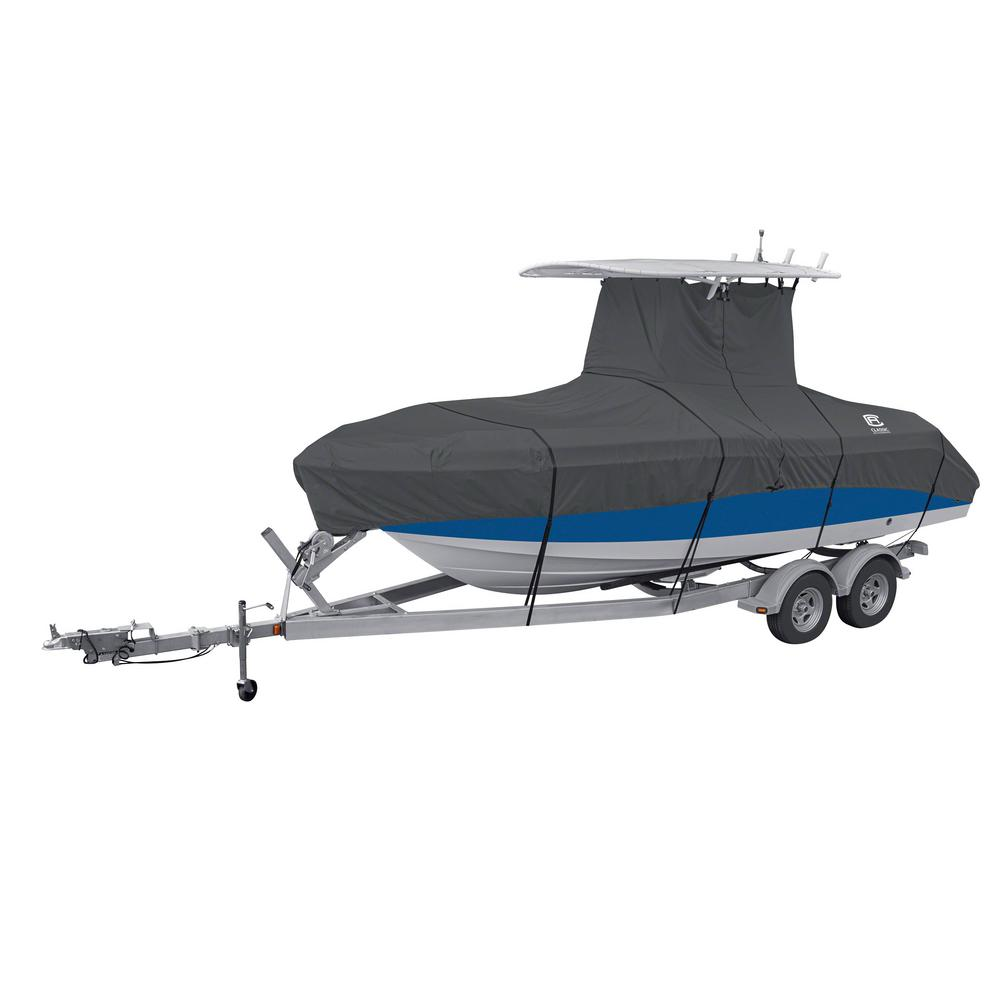 Classic StormPro 17 - 19 ft. Charcoal Grey T-Top Boat Cover