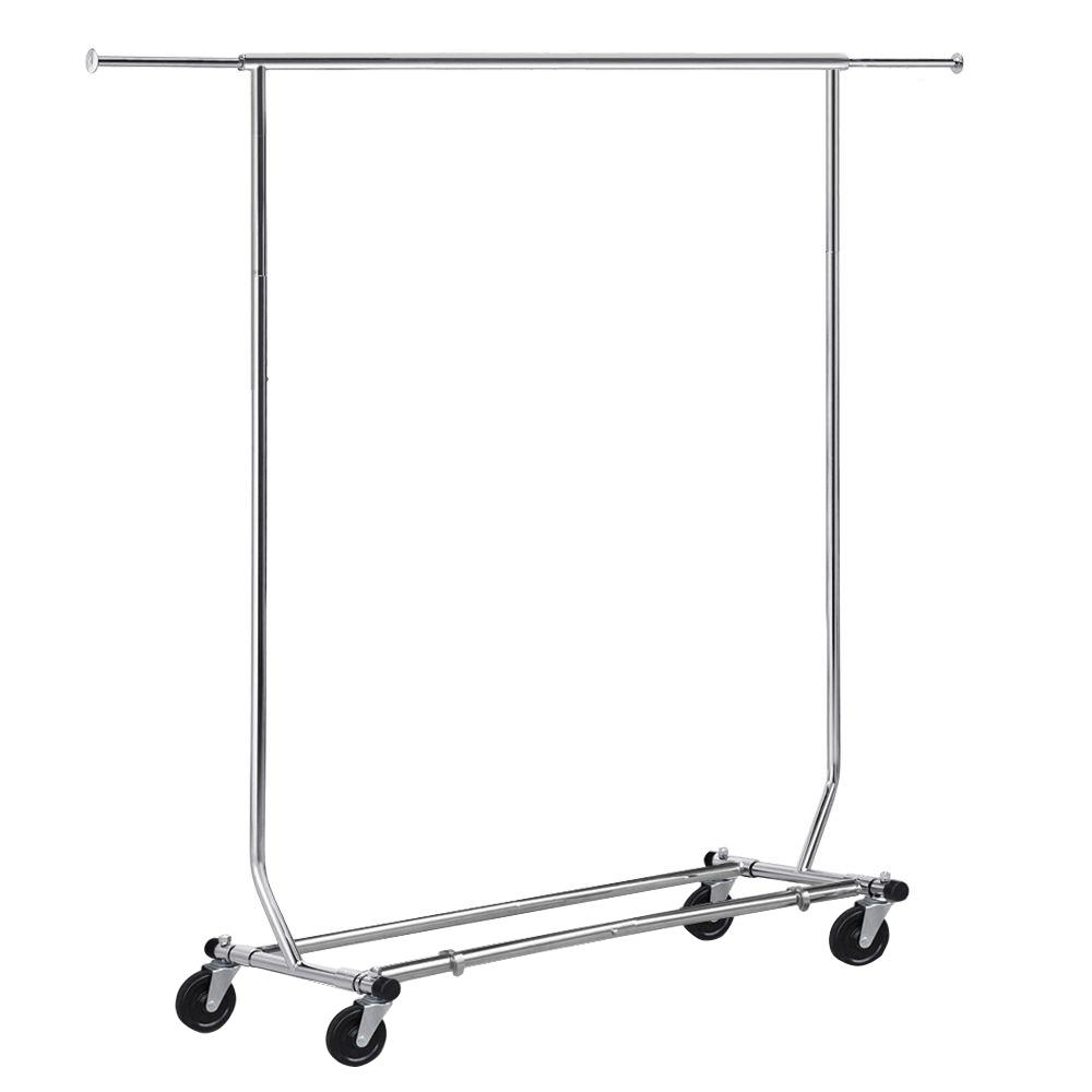 65 in. x 18 in. x 50 in. Silver Steel Garment