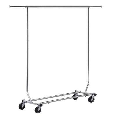 65 in. x 18 in. x 50 in. Silver Steel Garment Rack