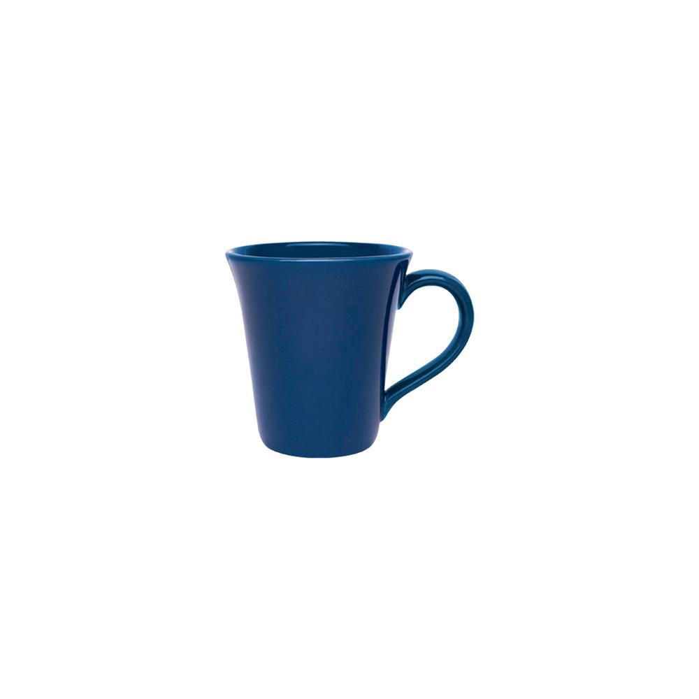 Floreal 11.16 oz. Blue Earthenware Mugs (Set of 12)