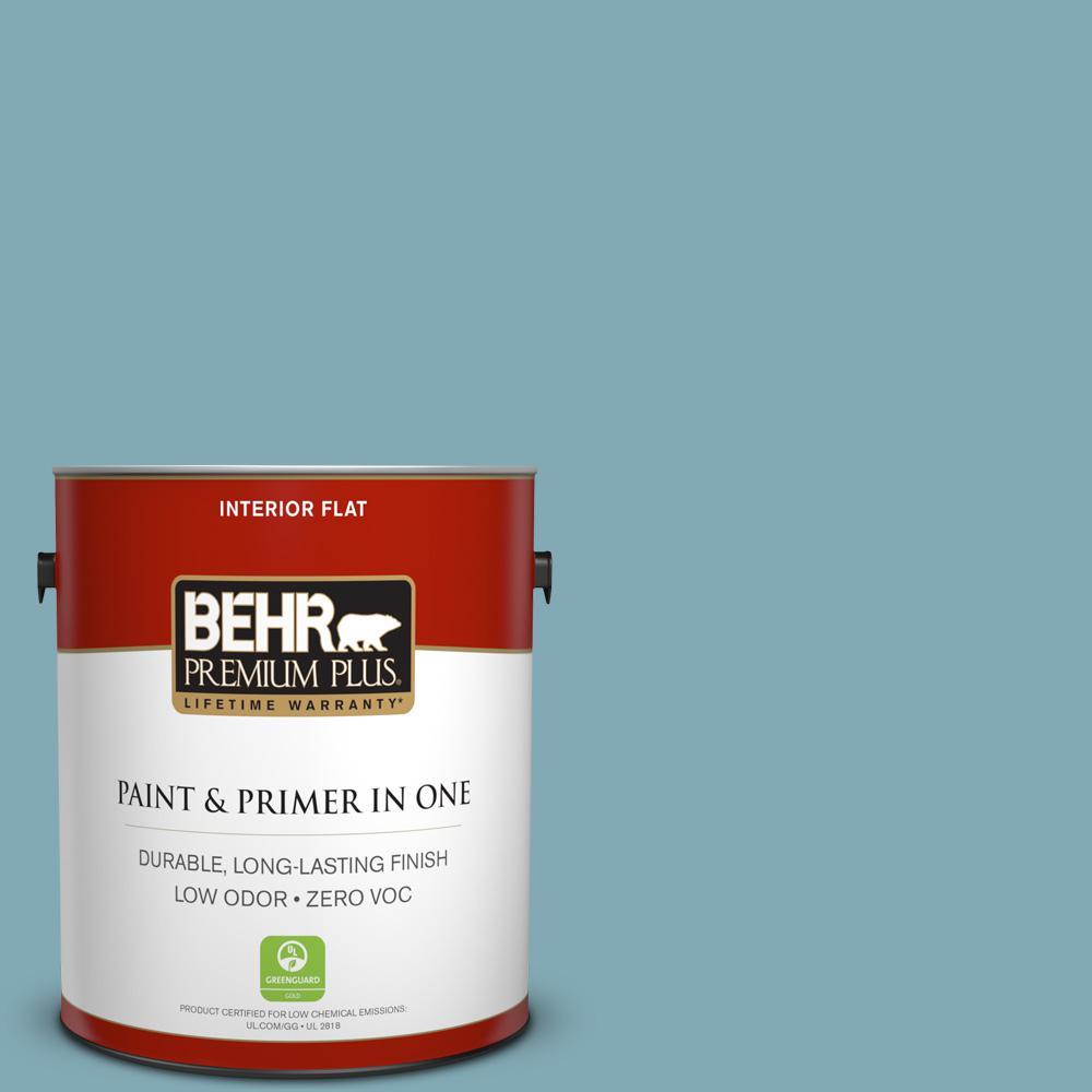 BEHR Premium Plus 1-gal. #S450-4 Crashing Waves Flat Interior Paint