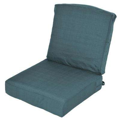 Oak Cliff Charleston Replacement 2-Piece Deep Seating Outdoor Lounge Chair Cushion