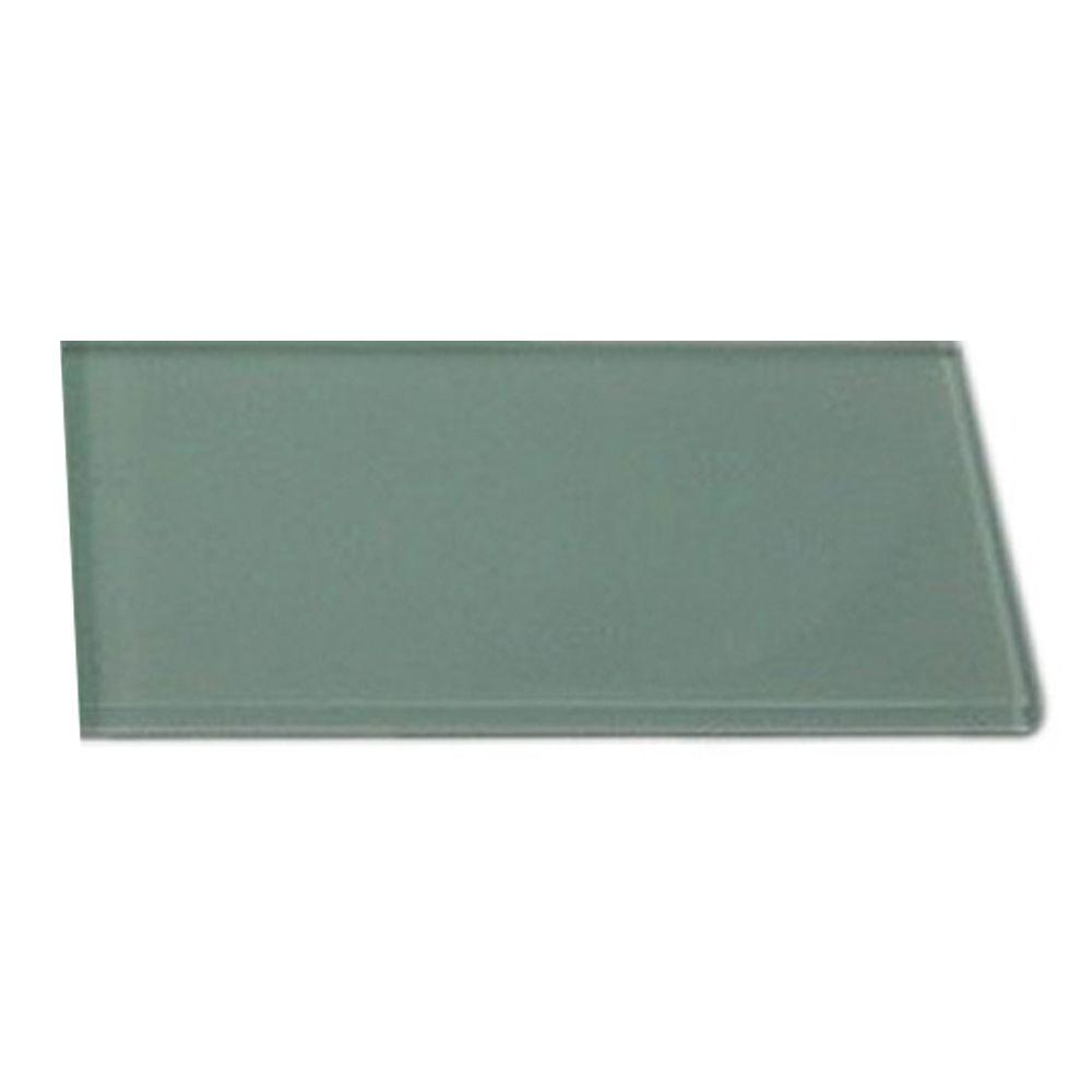 Contempo Seafoam Polished Glass Mosaic Floor and Wall Tile - 3