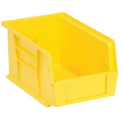 Ultra Series Stack and Hang 2.4 Gal. Storage Bin in Yellow (12-Pack)