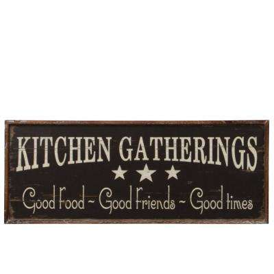 """6.50 in. x 17.50 in. """"Kitchen Gatherings"""" Printed Wall Art"""