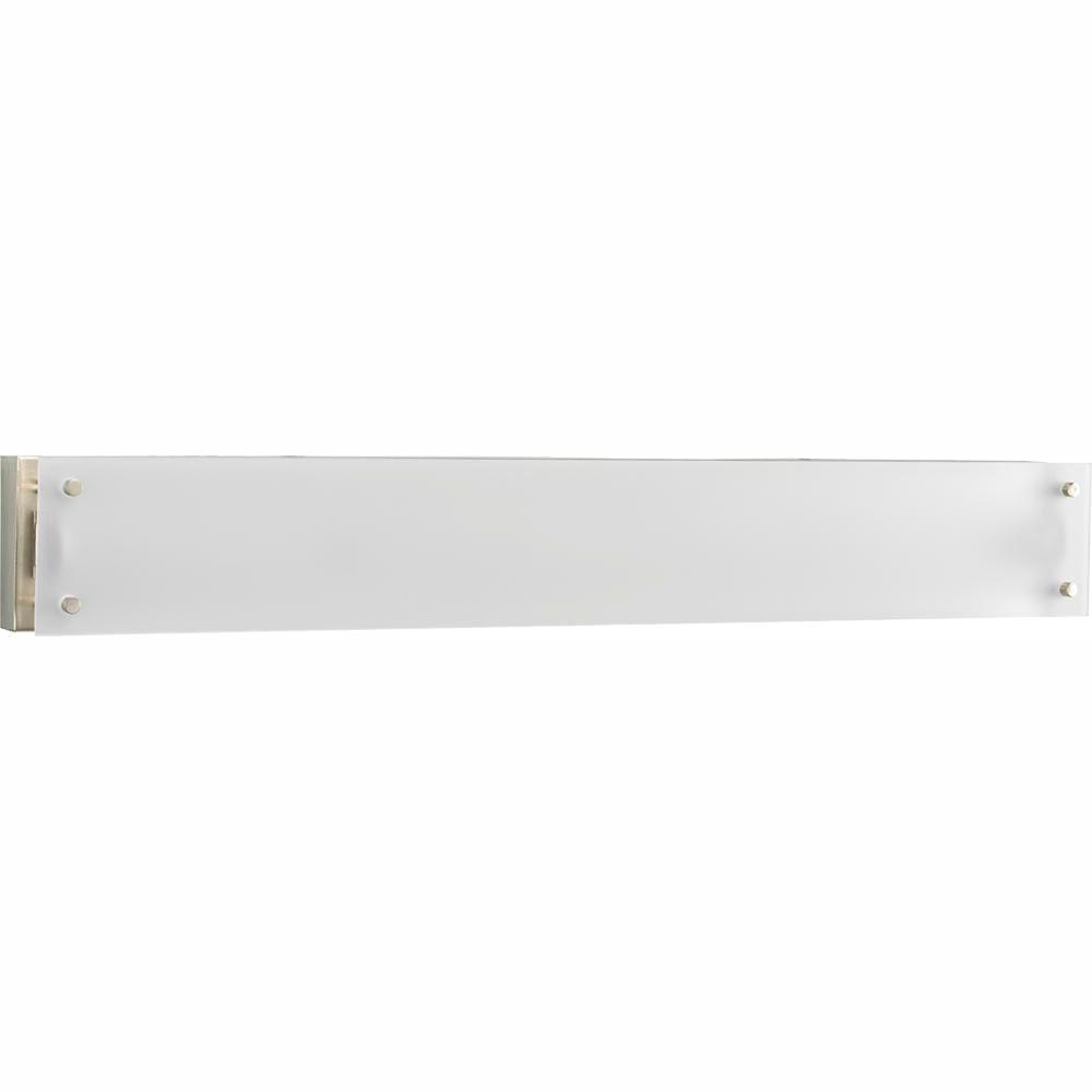 Progress Lighting 1-Light Brushed Nickel Fluorescent Bath Sconce with Etched Glass Shade