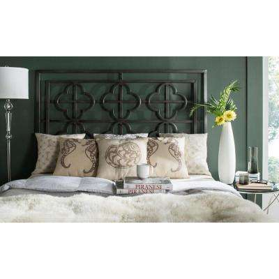 Lucina Antique Iron King Headboard