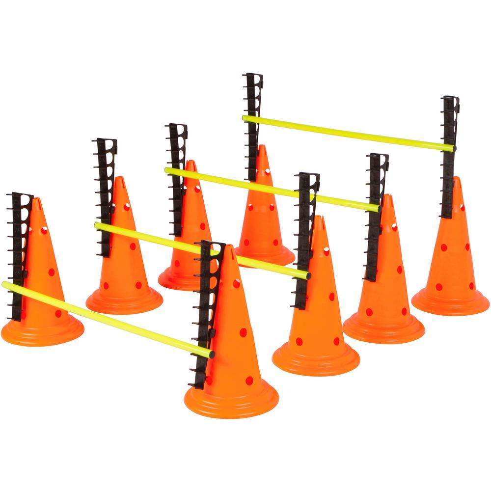20 in. Adjustable Hurdle Cone Set - 8 Cones and 4 Poles