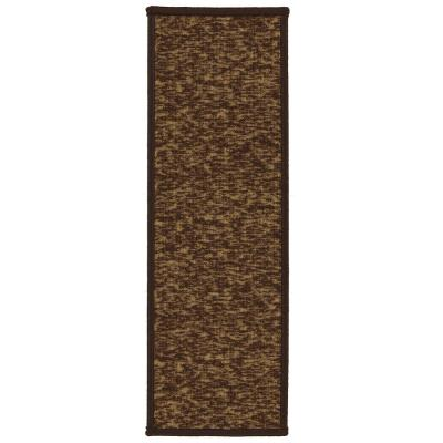 Escalier Collection Dark Brown 8.5 in. x 26 in. Rubber Back Stair Tread (Set of 7)