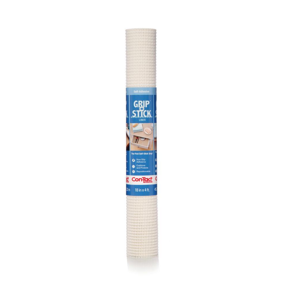 Grip-N-Stick White Shelf/Drawer Liner (Set of 6)