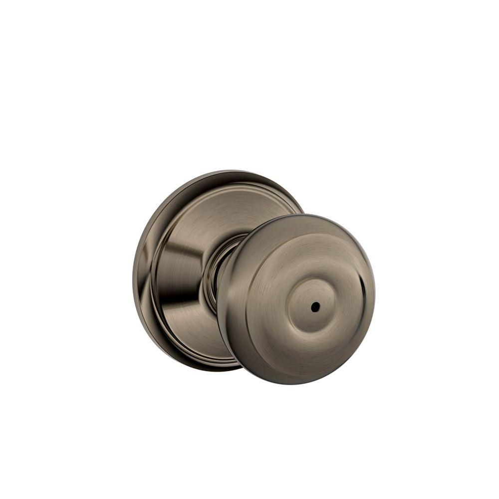 Merveilleux Schlage Georgian Antique Pewter Privacy Bed/Bath Door Knob