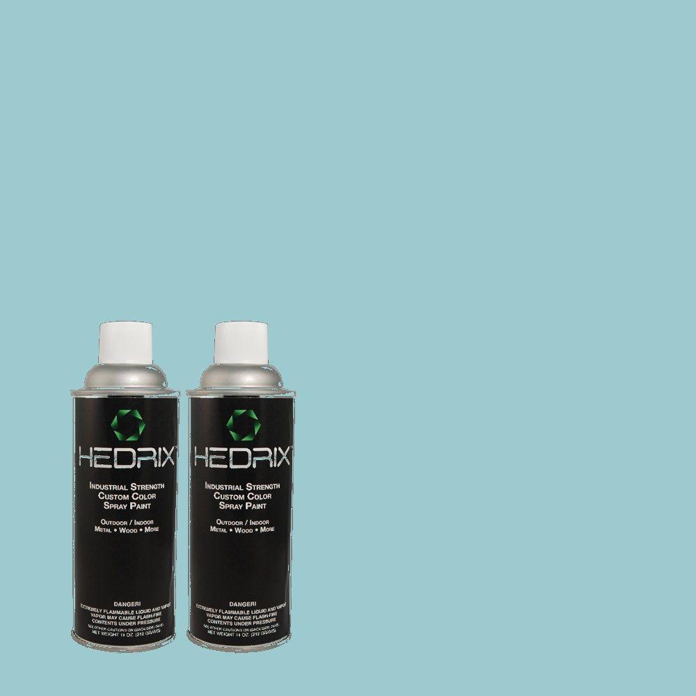 Hedrix 11 oz. Match of MQ4-50 Not a Cloud in Sight Semi-Gloss Custom Spray Paint (2-Pack)