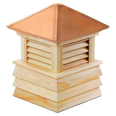 Dover 22 in. x 28 in. Wood Cupola with Copper Roof