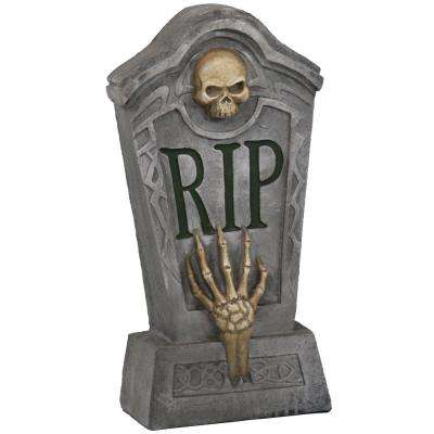 24 in. RIP Graveyard Tombstone Halloween Decoration
