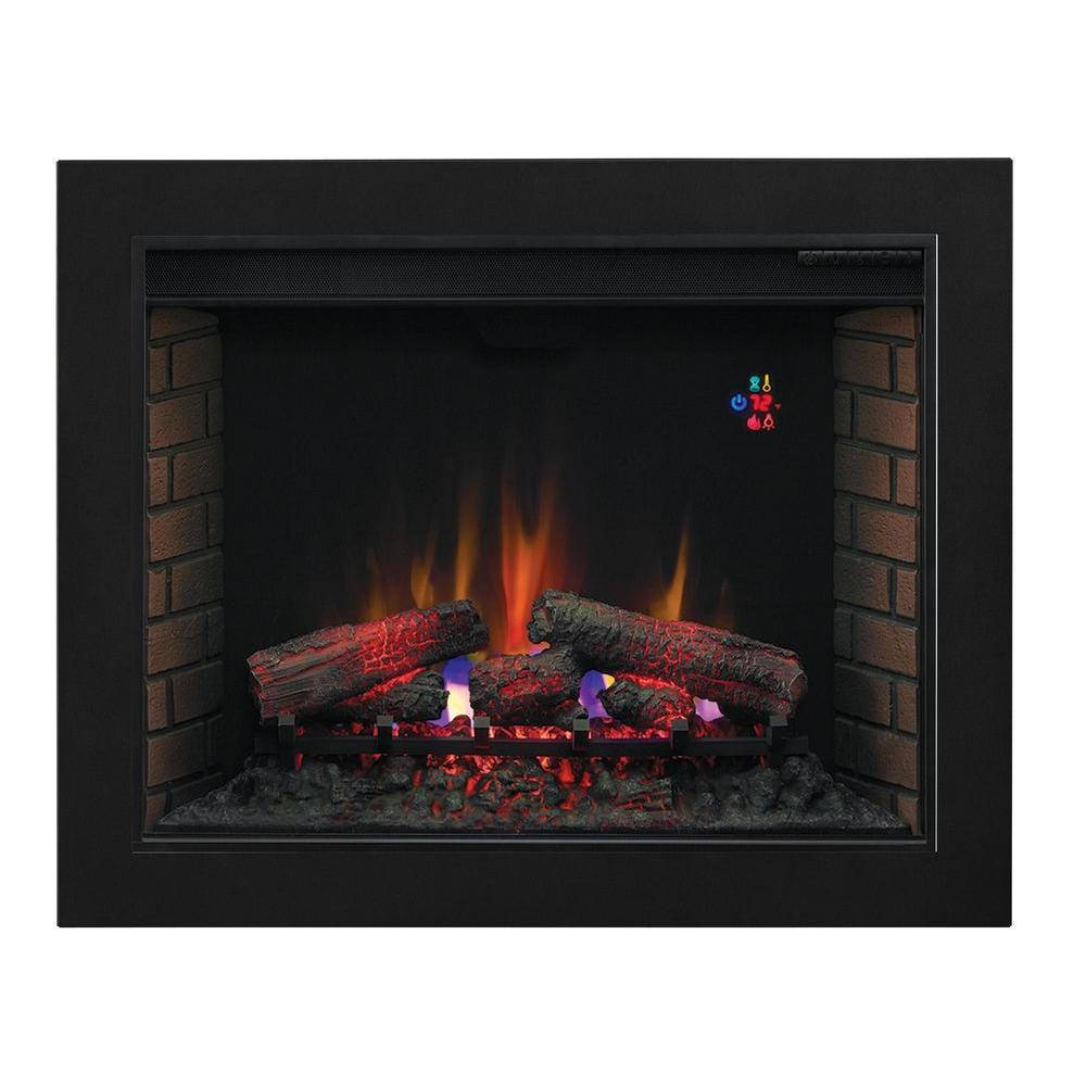 null 37.75 in. Traditional Electric Fireplace Insert