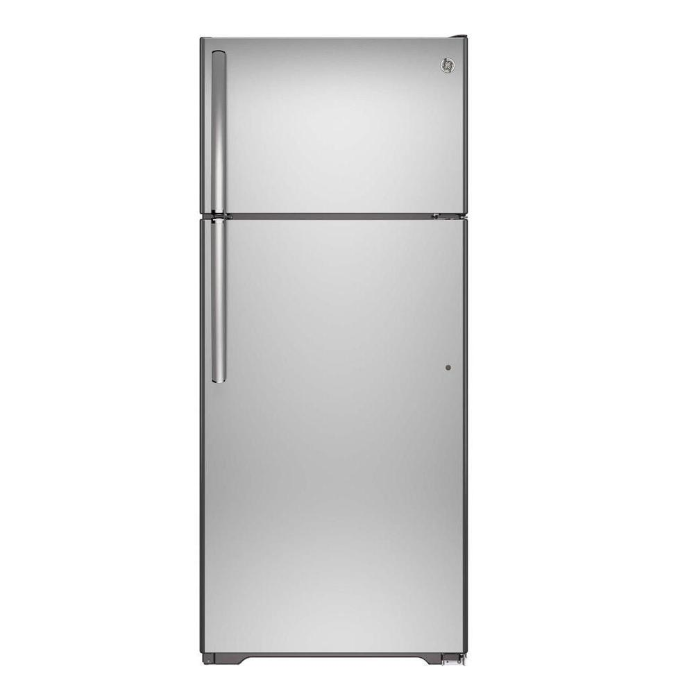Top Freezer Refrigerator In Stainless Steel Wrt518szfm The Home Depot