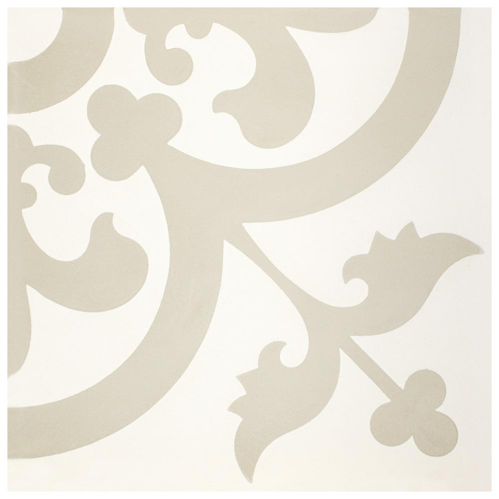 Merola Tile Cemento Empress Beach Encaustic 7-7/8 in. x 7-7/8 in. Cement Handmade Floor and Wall Tile