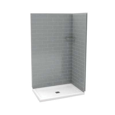 Gray - Double - 47.75 - Shower Stalls & Kits - Showers - The Home Depot