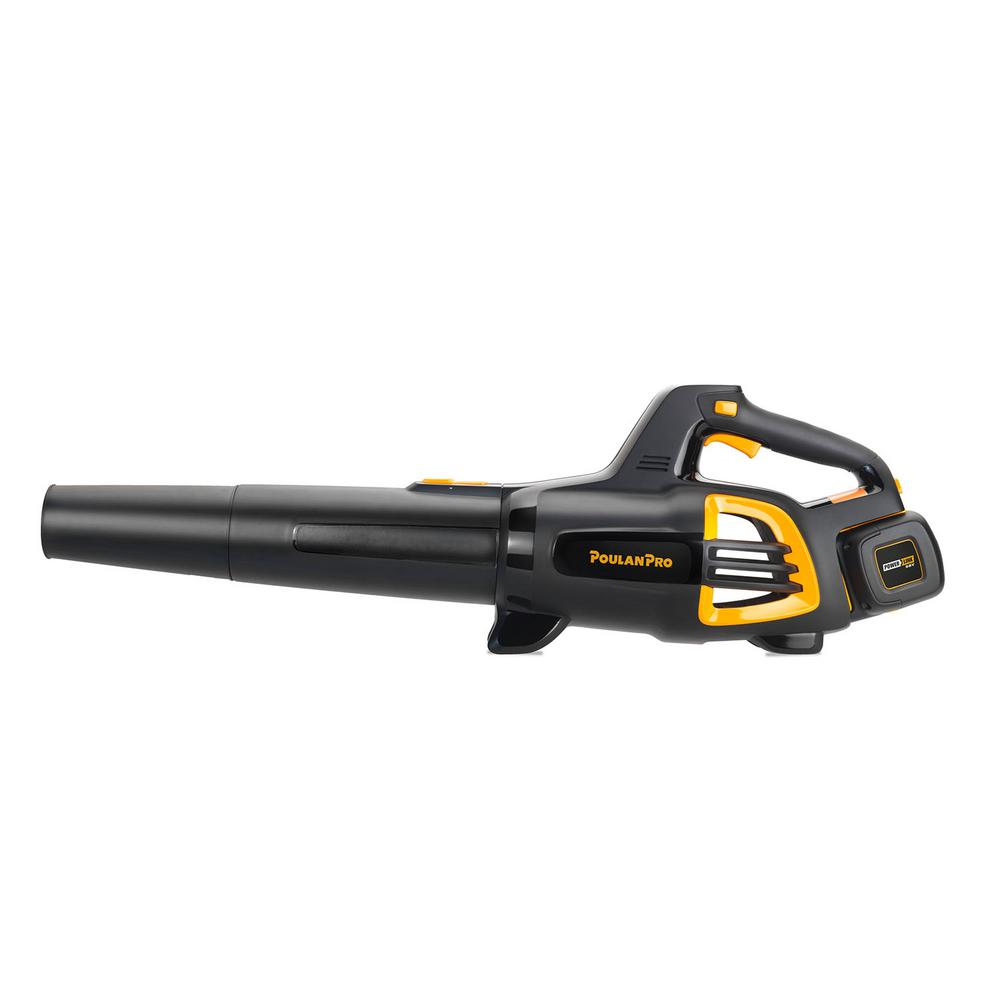 Poulan Pro PRB675i 130 MPH 675 CFM 58-Volt Lithium-Ion Cordless Handheld Leaf Blower Battery & Charger Included