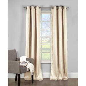 Davenport Champagne Grommet Panel Pair - 54 in. W x 84 in. L in (2-Piece)