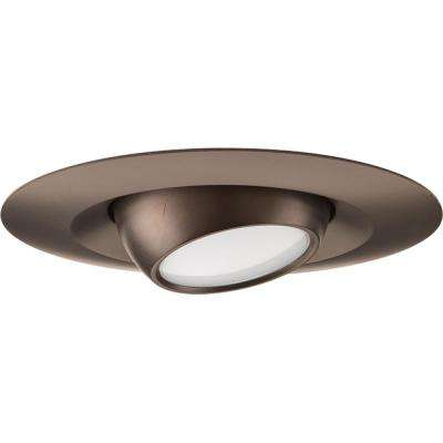 5 in. Antique Bronze Integrated LED Recessed Trim