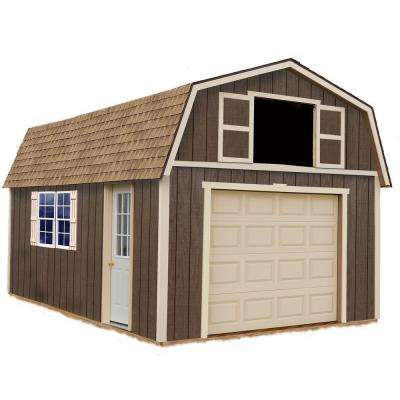 Tahoe 12 ft. x 20 ft. Wood Garage Kit without Floor