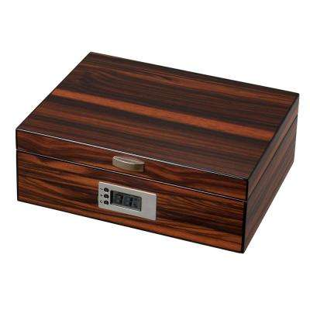 Ridge Macassar Ebony Wood Cigar Humidor