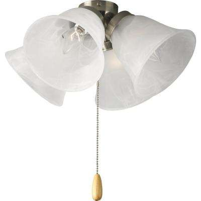 AirPro 4-Light Brushed Nickel Ceiling Fan Light