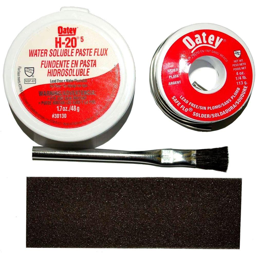 Oatey H-20/5 Water-Soluble Paste Flux Kit with Safe-Flo Solder