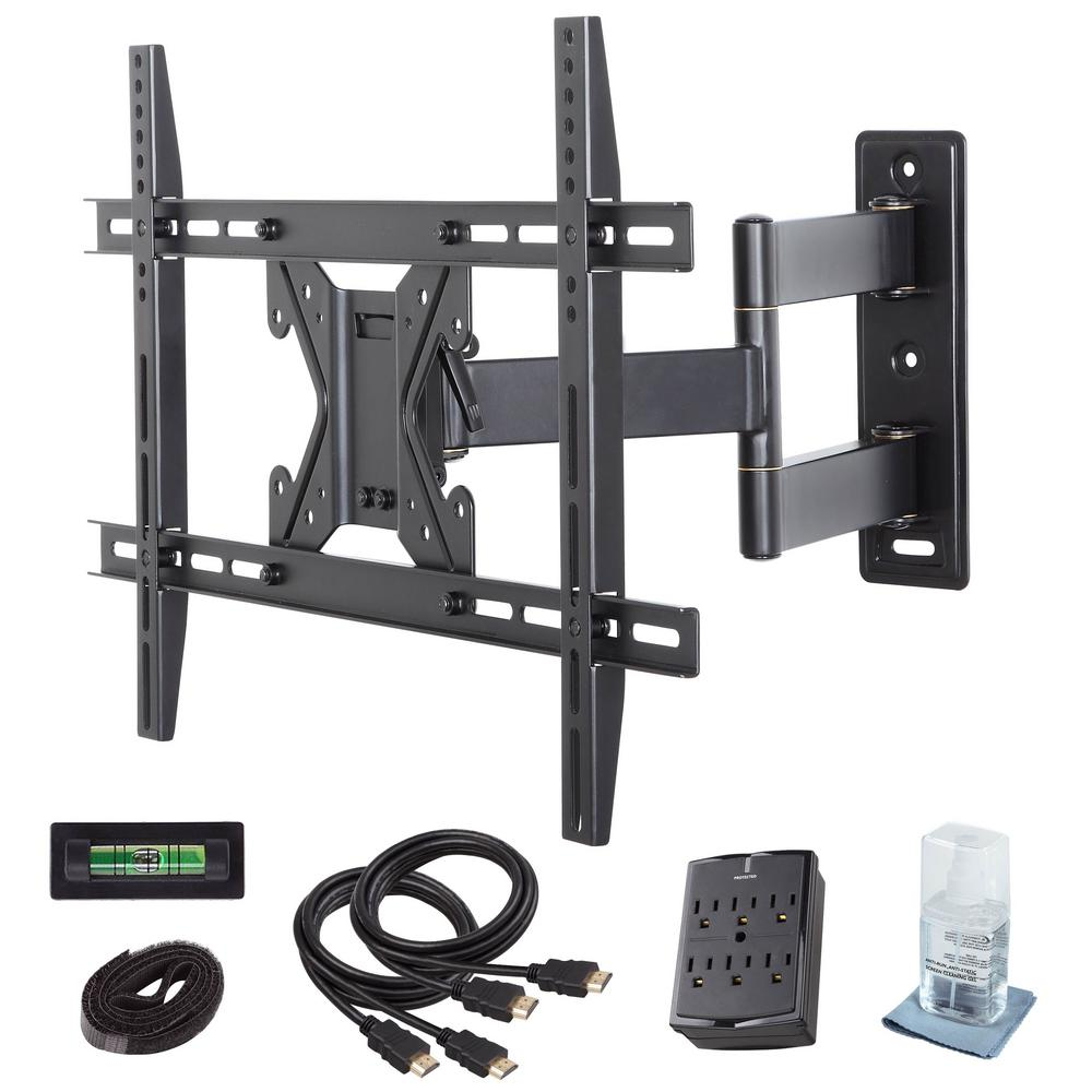 commercial electric full motion tv wall mount kit for 26 in 70 in tvs xd2470 the home depot. Black Bedroom Furniture Sets. Home Design Ideas