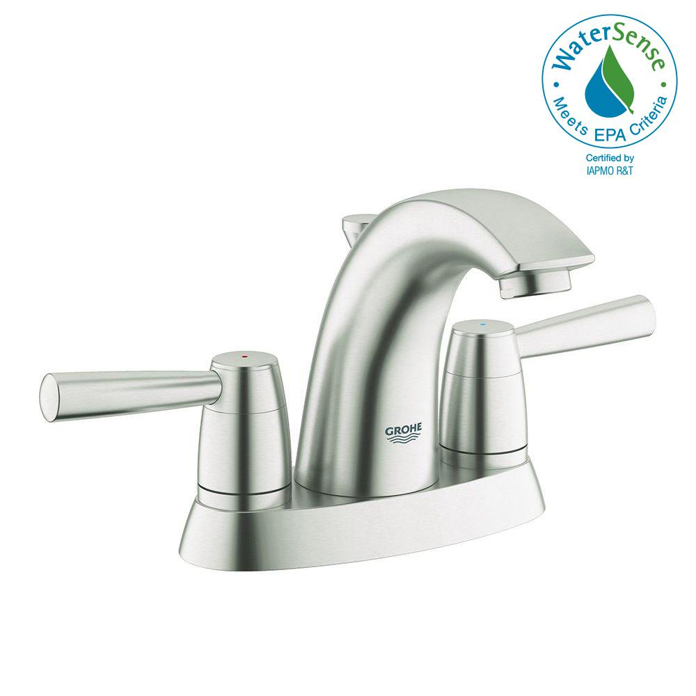 Grohe Arden 4 In Centerset 2 Handle Bathroom Faucet In Brushed